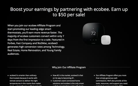Screenshot of Landing Page ecobee.com - Ecobee3 | Homekit Offer - captured March 4, 2016