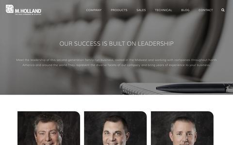 Screenshot of Team Page mholland.com - M. Holland Company Leadership   Plastic Distribution - captured Jan. 24, 2016