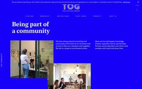 Screenshot of theofficegroup.co.uk - Professionals & Businesses Community | The Office Group - captured Sept. 10, 2017