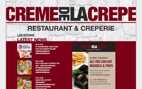Screenshot of Press Page cremedelacrepe.com - CREME DE LA CREPE - News - captured Oct. 28, 2014