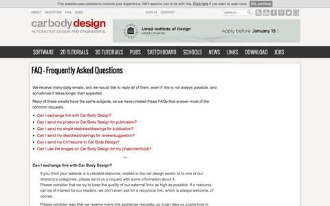 Screenshot of FAQ Page carbodydesign.com - FAQ – Frequently Asked Questions   - Car Body Design - captured Dec. 5, 2015