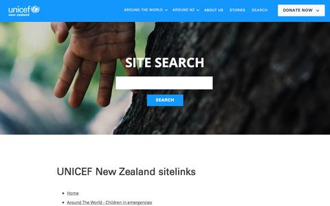 Screenshot of Site Map Page unicef.org.nz - Sitemap | UNICEF New Zealand - captured Oct. 3, 2017