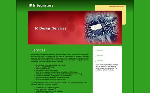 Screenshot of Services Page ipintegrators.com - Services - captured Dec. 17, 2015