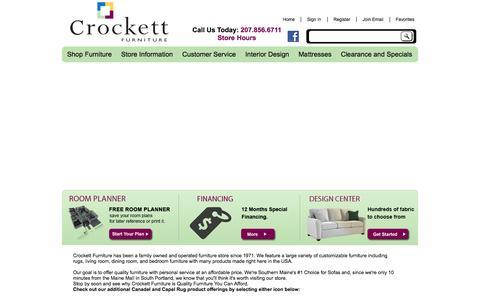 Screenshot of Home Page crockettfurniture.com - Crockett Furniture   Best Furniture Store in Maine   Gorham, ME - captured Jan. 23, 2015