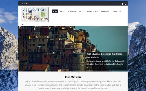 Screenshot of Home Page utahgc.org - Home   Association for Utah Genetic Counselors - captured Sept. 11, 2015