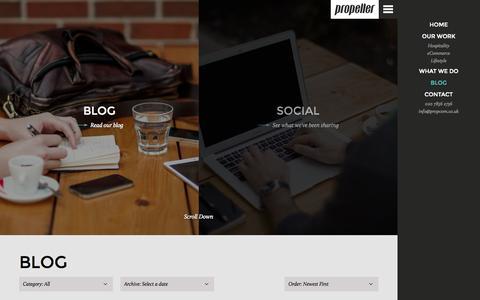 Screenshot of Press Page propcom.co.uk - Digital Agency London, Restaurant Web Design London, eCommerce Websites London - captured Sept. 23, 2014