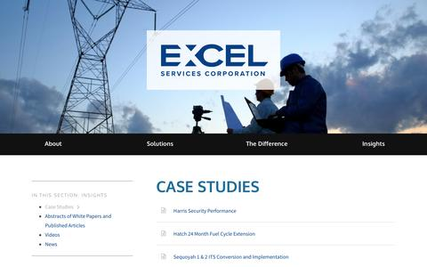 Screenshot of Case Studies Page excelservices.com - Excel Services Corporation | Case Studies - captured July 12, 2017