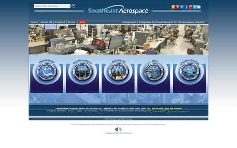 Screenshot of Home Page seaerospace.com - Southeast Aerospace, Inc. - Component & Integrated Technical Services - captured Oct. 6, 2014