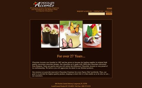 Screenshot of About Page chocolateaccents.com - About Us - captured Dec. 8, 2015