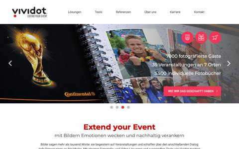 Screenshot of Home Page vividot.de - Vividot - Start - captured Oct. 18, 2018