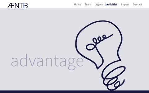 Screenshot of Services Page aentib.com - Activities — Aentib - captured Dec. 9, 2018