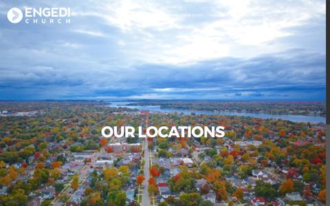 Screenshot of Locations Page engedichurch.com - Our Locations - Engedi Church - captured May 18, 2017