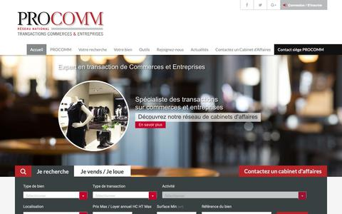 Screenshot of Home Page procomm.fr - Accueil | PROCOMM - captured Sept. 25, 2018