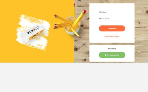 Screenshot of Login Page zupdeco.org - ZUPdeCO - captured Oct. 4, 2018