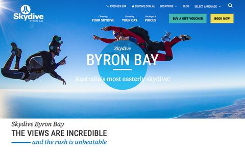 Screenshot of Locations Page skydive.com.au - Byron Bay » Skydive - captured June 2, 2018