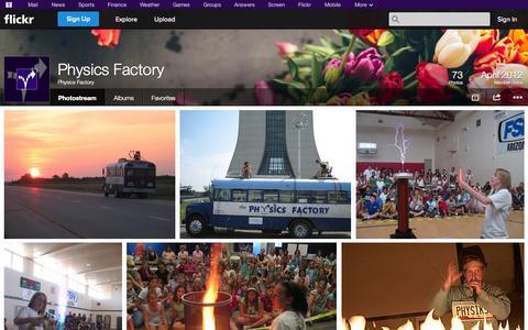 Screenshot of Flickr Page flickr.com - Flickr: Physics Factory's Photostream - captured Oct. 26, 2014