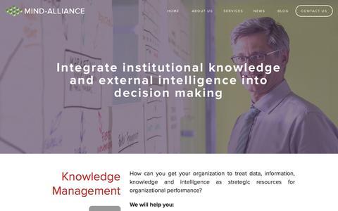Screenshot of Team Page mind-alliance.com - Knowledge Management — Mind-Alliance - captured Nov. 5, 2014
