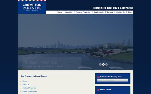 Screenshot of Site Map Page cromptonpartners.com - Sitemap - Buy Property in Dubai - captured Oct. 27, 2014
