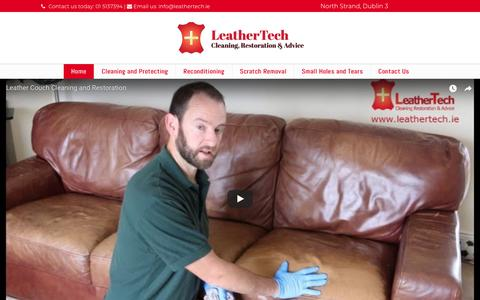 Screenshot of Home Page leathertech.ie - LeatherTech | Leather Cleaning & Restoration | Dublin - captured July 17, 2018