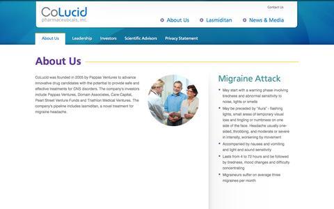 Screenshot of About Page colucid.com - About Us – CoLucid - captured Sept. 13, 2014
