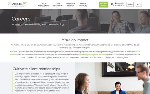 Screenshot of Jobs Page visualiq.com - Visual IQ Careers – Join Our Team - captured Sept. 22, 2017