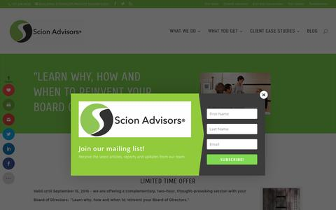 Screenshot of Contact Page scionadvisors.com - Limited time offer | Scion Advisors - captured July 23, 2016