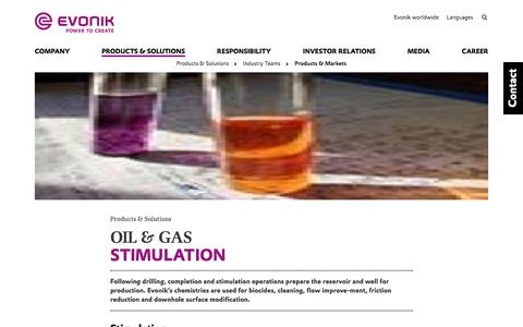 stimulation - Evonik Industries AG