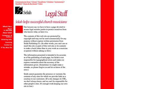 Screenshot of Terms Page selahpub.com - Selah Legal Stuff - captured Feb. 4, 2016