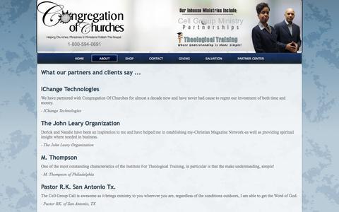 Screenshot of Testimonials Page congregationofchurches.org - testimonials - captured Nov. 21, 2017