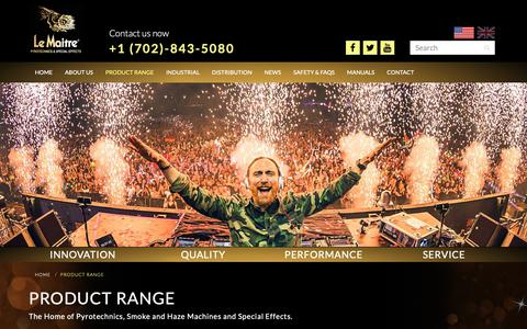 Screenshot of Products Page lemaitreusa.com - Product Range | Le Maitre USA - captured Sept. 27, 2018