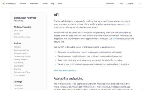 API | Brandwatch