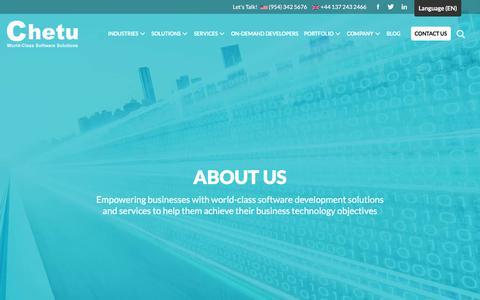 Screenshot of About Page chetu.com - World-Class Software Development Solutions | About Chetu - captured Nov. 30, 2019