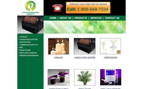 Screenshot of Products Page churchwaresdirect.com - PRODUCTS - captured July 13, 2016
