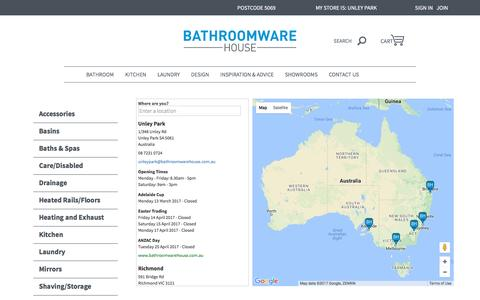 Store Finder | Bathroomware House