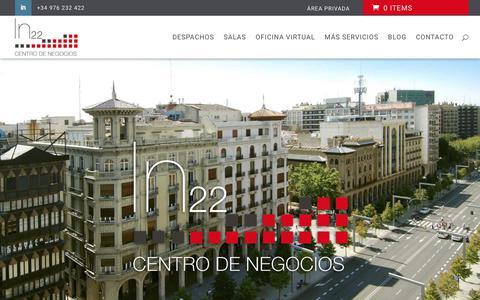 Screenshot of Home Page independencia22.com - Centro de Negocios en Zaragoza | Independencia 22 - captured Nov. 10, 2018