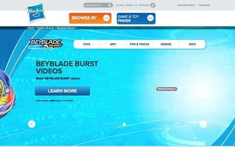 Screenshot of hasbro.com - Beyblade Burst | Beyblade Burst Official Website | Beyblade Burst Tops - captured Oct. 21, 2016
