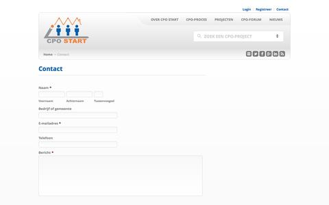 Screenshot of Contact Page cpostart.nl - CPO Start | CPO Start - Contact - captured Sept. 26, 2014