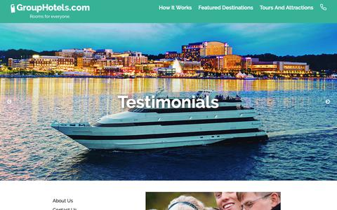 Screenshot of Testimonials Page grouphotels.com - Testimonials - Group Hotels - captured Sept. 30, 2018
