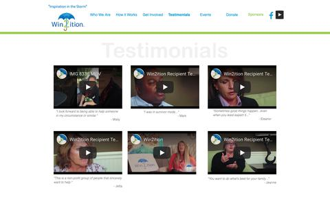 Screenshot of Testimonials Page win2ition.org - Testimonials | Win2ition™ - captured Oct. 20, 2018