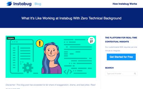 Screenshot of Team Page instabug.com - What It's Like Working at Instabug With Zero Technical Background - captured Dec. 3, 2019