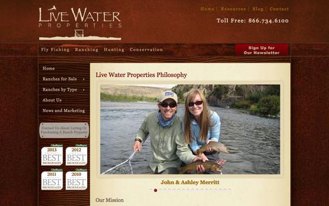 Screenshot of About Page livewaterproperties.com - Live Water Properties About Us - captured Sept. 19, 2014