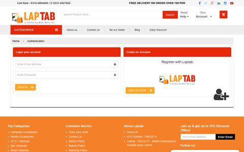 Screenshot of Login Page laptab.com.pk - Laptab | Online Shopping in Pakistan - captured Sept. 27, 2018