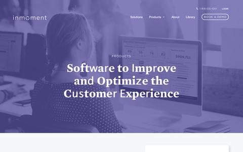 Screenshot of Products Page inmoment.com - Customer Experience Optimization Products | InMoment - captured May 17, 2017