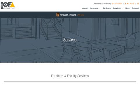 Screenshot of Services Page usedofficefurnitureseattle.com - Services - Used Office Furniture Seattle - captured Oct. 19, 2018