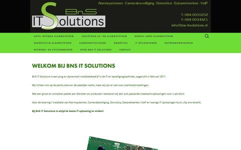 Screenshot of Home Page bns-itsolutions.nl - bns-itsolutions.nl - captured Sept. 30, 2014