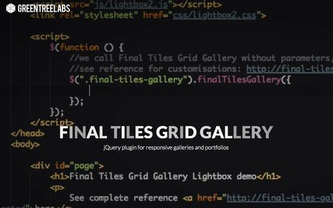 Screenshot of Home Page final-tiles-gallery.com - Final Tiles Grid Gallery | jQuery plugin - captured June 18, 2015