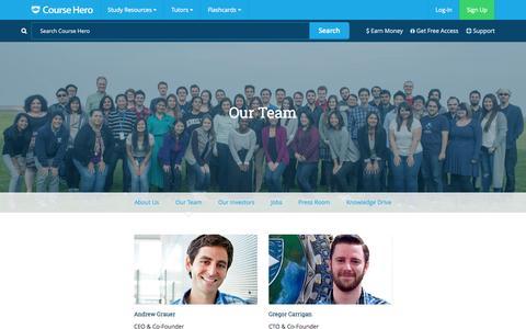 Screenshot of Team Page coursehero.com - Course Hero - Our Team - captured Nov. 23, 2015