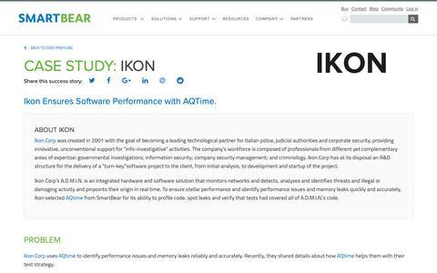 Screenshot of Case Studies Page smartbear.com - Case Study: Ikon | SmartBear - captured Dec. 6, 2018
