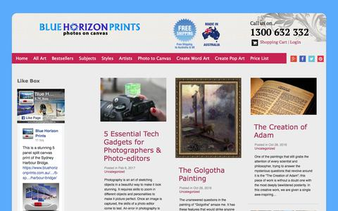 Screenshot of Blog bluehorizonprints.com.au - Blue Horizon Prints Photos on Canvas Blog Page | Quality Wall Art - captured June 1, 2017
