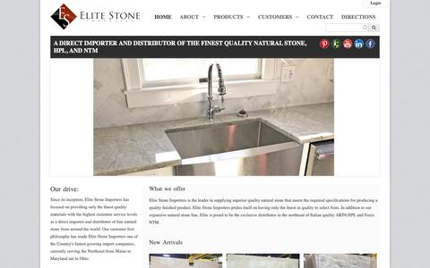 Screenshot of Home Page elitestoneimporters.com - Elite Stone Importers - captured Nov. 4, 2018